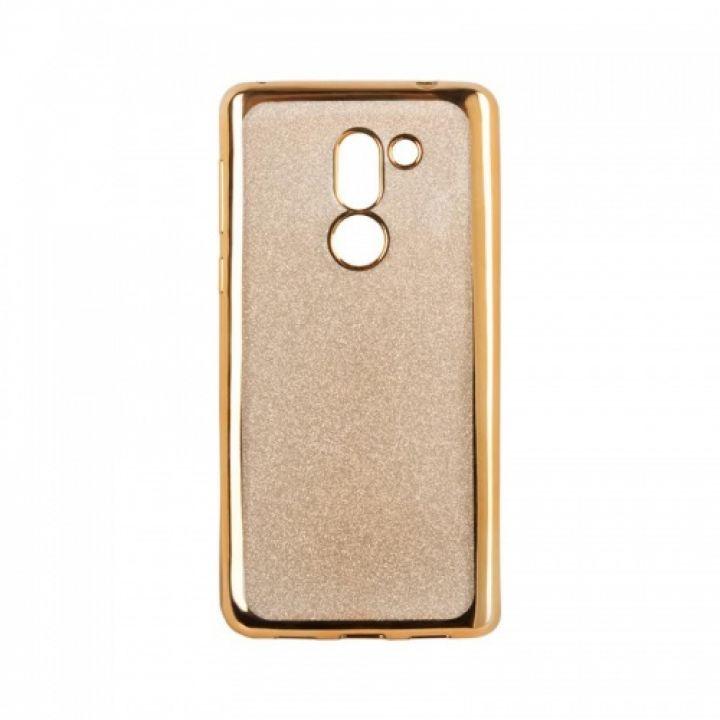 Чехол с блесками Glitter Silicon от Remax для Xiaomi Redmi Note 4x золото