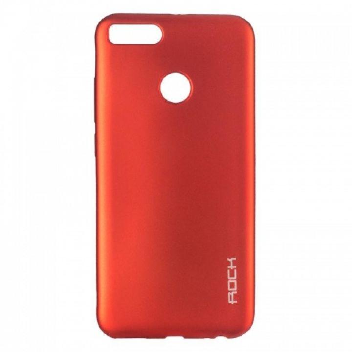 Плотный силиконовый чехол Matte от Rock для Xiaomi Redmi Note 5/5 Pro красный