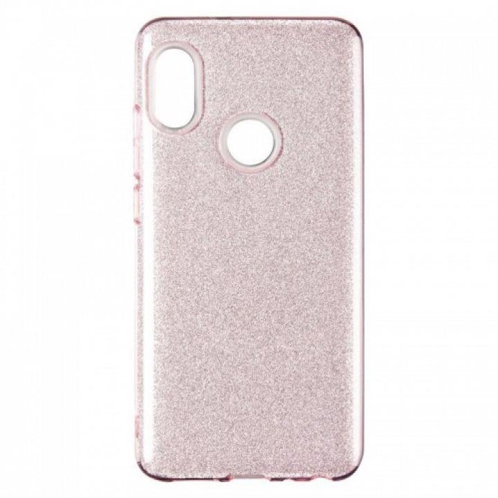 Чехол с блесками Glitter Silicon от Remax для Xiaomi Mi A2/Mi6x розовый