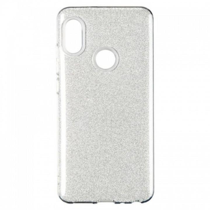 Чехол с блесками Glitter Silicon от Remax для Xiaomi Mi A2/Mi6x серебро
