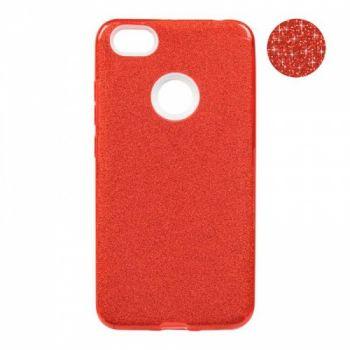 Чехол с блесками Glitter Silicon от Remax для Xiaomi Redmi Note 5a красный