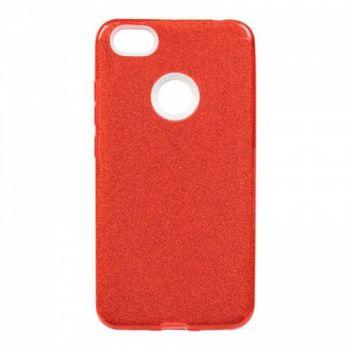 Чехол с блесками Glitter Silicon от Remax для Samsung J415 (J4 Plus) красный