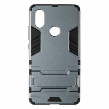 Пластиковый ударопрочный чехол накладка для Huawei P Smart Plus/Nova 3i серый