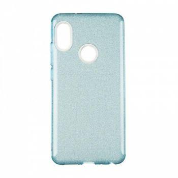 Чехол с блесками Glitter Silicon от Remax для Xiaomi Redmi Note 6 Pro Blue