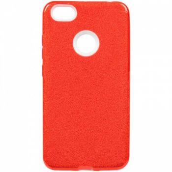 Чехол с блесками Glitter Silicon от Remax для Xiaomi Redmi Note 6 Pro Red