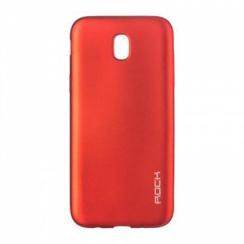 Плотный силиконовый чехол Matte от Rock для Samsung J530 (J5-2017) красный