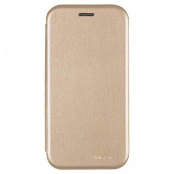 Чехол книжка из кожи G-Case Ranger для Samsung A520 (A5-2017) золотой