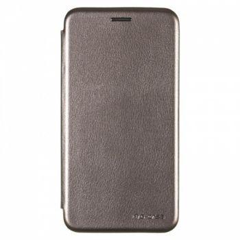 Чехол книжка из кожи G-Case Ranger для Samsung M105 (M10) серая