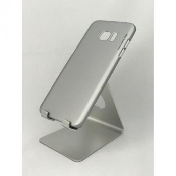 Тонкий пластиковый чехол Soft-touch для Samsung Galaxy S7 edge, серый
