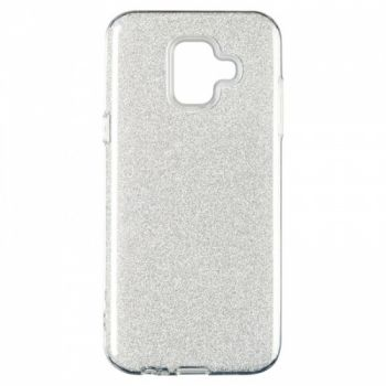 Чехол с блесками Glitter Silicon от Remax для Samsung J610 (J6 Plus) серебро