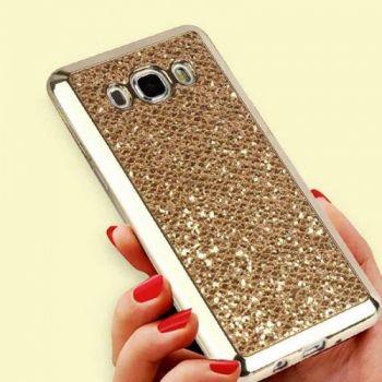 Золотистый чехол Shining Sparkles с блестками для Samsung Galaxy J510