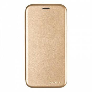 Чехол книжка из кожи G-Case Ranger для Samsung J530 (J5-2017) золотой