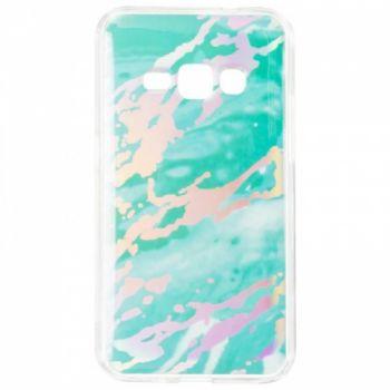 Мраморный чехол с красками для Samsung J120 (J1-2016) Mint