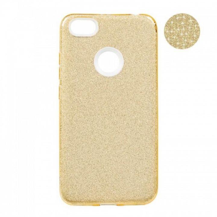 Чехол с блесками Glitter Silicon от Remax для Xiaomi Redmi Note 5/5 Pro золото