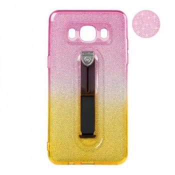 Накладка градиент Glitter Hold от Remax для Samsung J510 (J5-2016) желтый/розовый