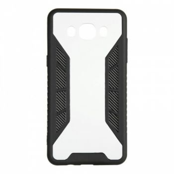 Черный защитный бампер Carbon Fiber от iPaky для Samsung J700 (J7)