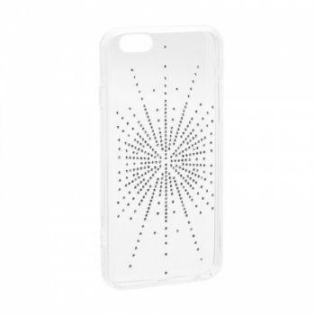 Прозрачный чехол накладка с рисунком для Samsung J610 (J6 Plus) серебро