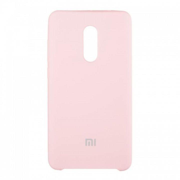 Оригинальный чехол накладка Soft Case для Xiaomi Redmi 5 розовый