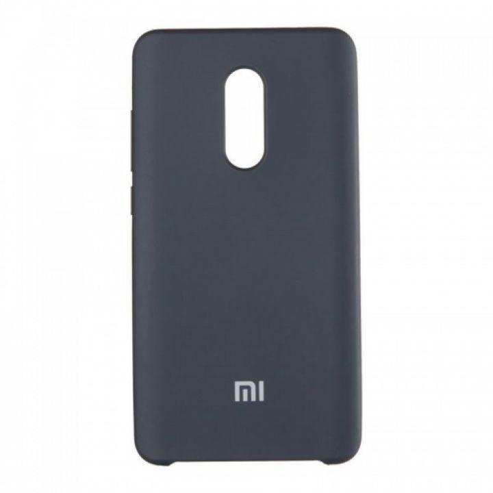 Оригинальный чехол накладка Soft Case для Xiaomi Redmi 5 Plus черный