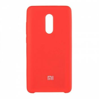 Оригинальный чехол накладка Soft Case для Xiaomi Redmi 5 Plus красный