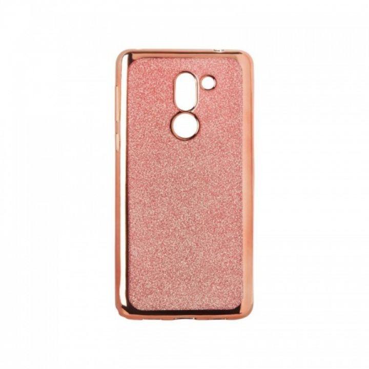 Чехол с блесками Glitter Silicon от Remax для Xiaomi Redmi 5a розовый