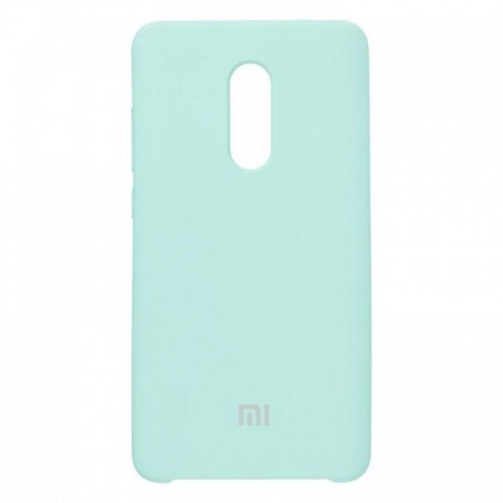 Оригинальный чехол накладка Soft Case для Xiaomi Redmi Note 5/5 Pro Ocean Mint