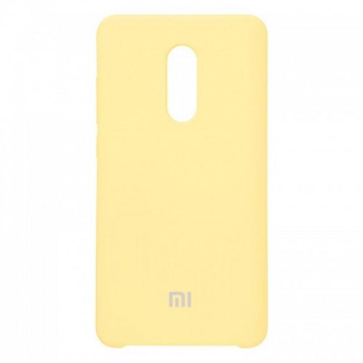 Оригинальный чехол накладка Soft Case для Xiaomi Redmi Note 5/5 Pro желтый