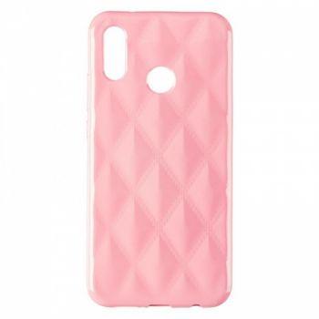 Накладка в ромбиках для девочек на Huawei P20 Lite Light розовый