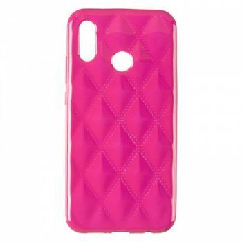 Накладка в ромбиках для девочек на Huawei P20 Lite розовый