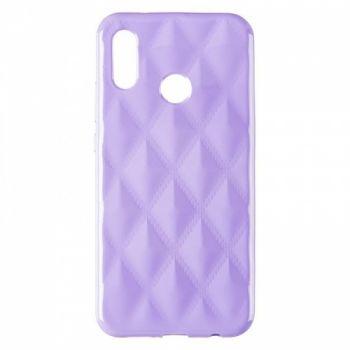 Накладка в ромбиках для девочек на Huawei P20 Lite фиолетовый