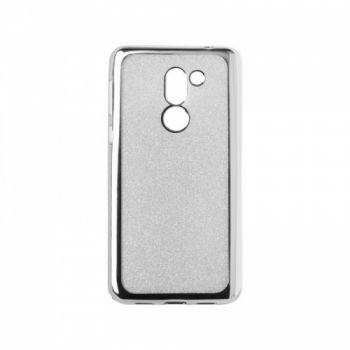 Чехол с блесками Glitter Silicon от Remax для Huawei Y7 серебро