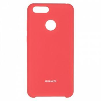 Оригинальный чехол накладка Soft Case для Huawei Honor 7x розовый красный
