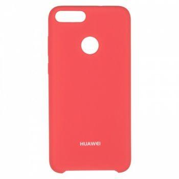 Оригинальный чехол накладка Soft Case для Huawei Mate 10 Lite розовый красный