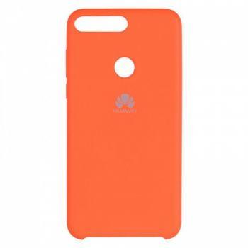Оригинальный чехол накладка Soft Case для Huawei P Smart Plus/Nova 3i оранжевый