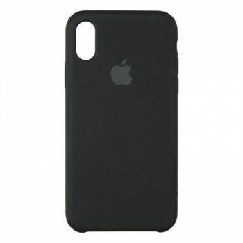 Original чехол накладка Silicone для iPhone XS Max черный