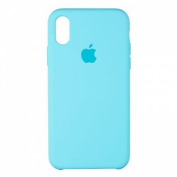 Original чехол накладка Silicone для iPhone XS Max Light Blue