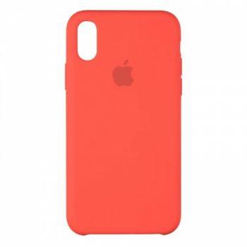 Original чехол накладка Silicone для iPhone XS Max Red