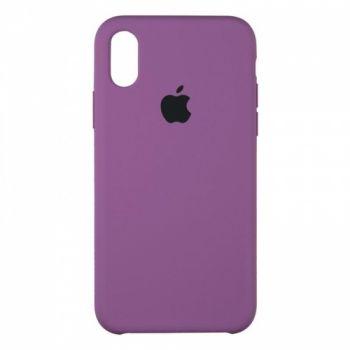 Original чехол накладка Silicone для iPhone XS Max Violet