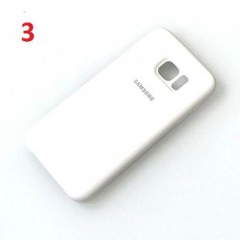 Оригинальный чехол накладка Soft Case для Samsung S7 Edge белый