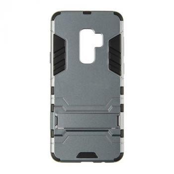 Пластиковый ударопрочный чехол накладка для Samsung S9 Plus серый
