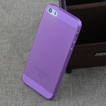 Матовый прозрачный чехол-накладка Non-ferrous для iPhone 5/5S Purple