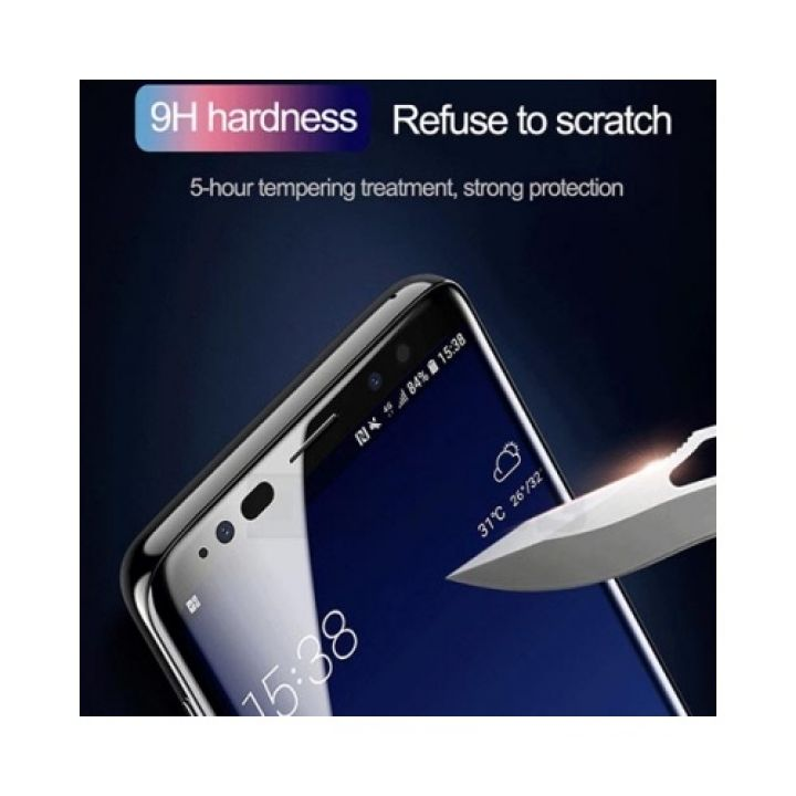 Защитное 3D стекло для Samsung S9 Galaxy от Baseus с олиофобным покрытыем, полно-экранное
