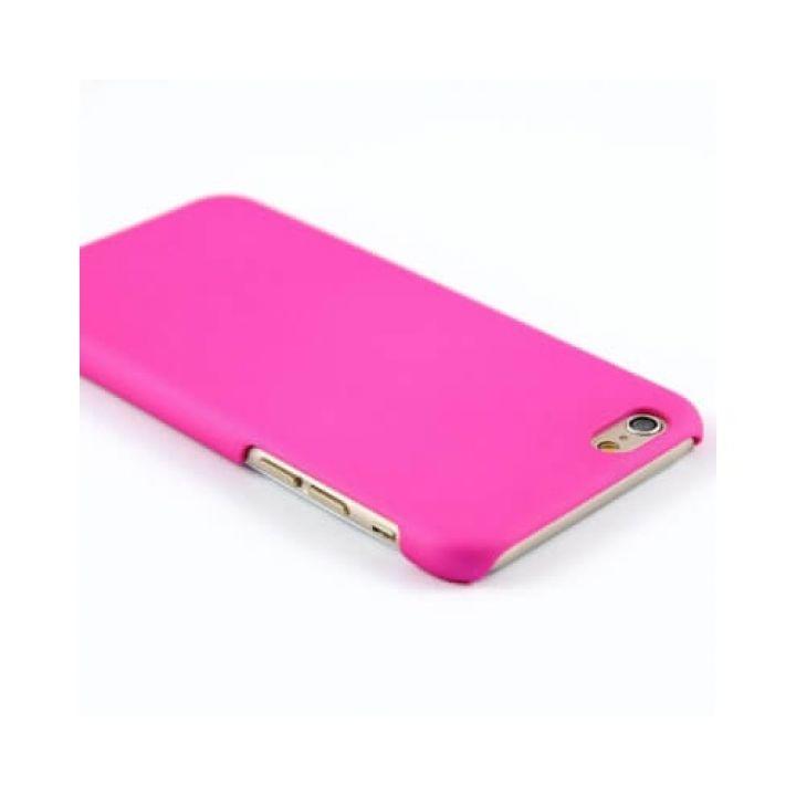 Прорезиненый пластиковый чехол-пенал для iPhone 6 Plus Pink