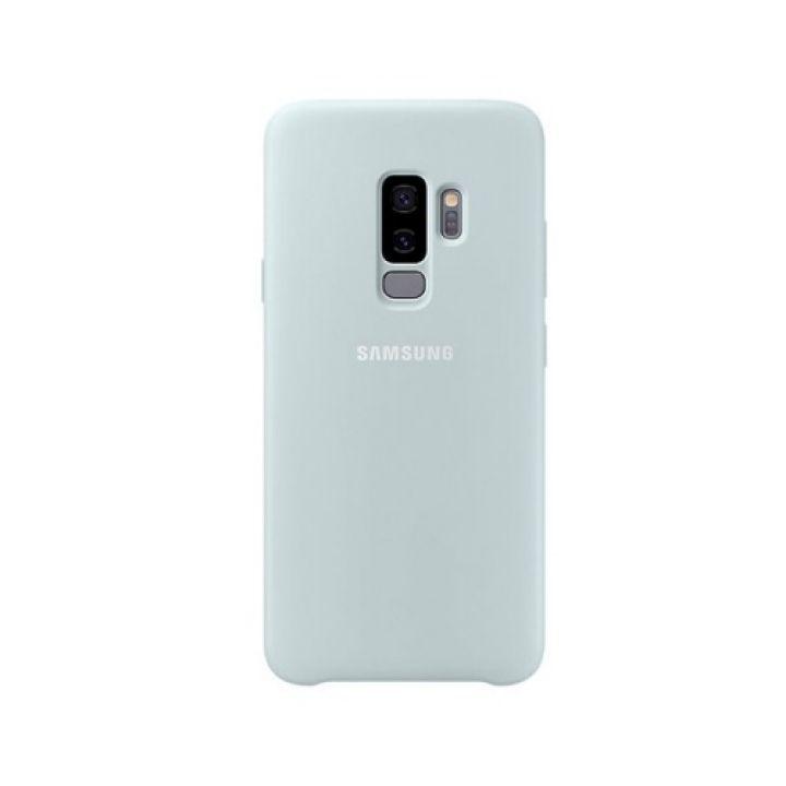 Яркий чехол накладка Silicone Blue original для Samsung Galaxy S9 Plus