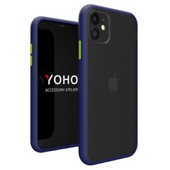 Противоударный матовый чехол Yoho для iPhone 11 синий