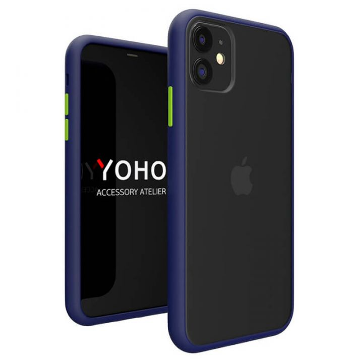 Противоударный матовый чехол Yoho для iPhone 11 Pro синий