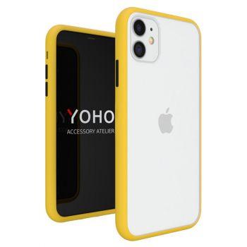 Противоударный матовый чехол Yoho для iPhone 11 желтый