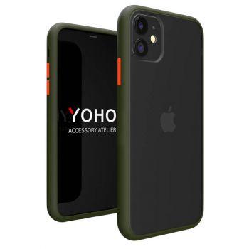 Противоударный матовый чехол Yoho для iPhone 11 gray
