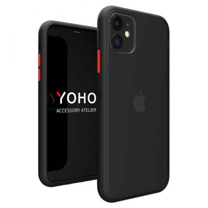 Противоударный матовый чехол Yoho для iPhone 11 Pro Max черный