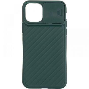 Защитный чехол Slide Camera от AirCase для iPhone 12 зеленый